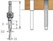 Сверло-зенковка трехступенчатое для (евровинтов конфирматов) быстросменное D1/3.5 D2/5.0 D8 B15 L60 W.P.W. ASD0504D