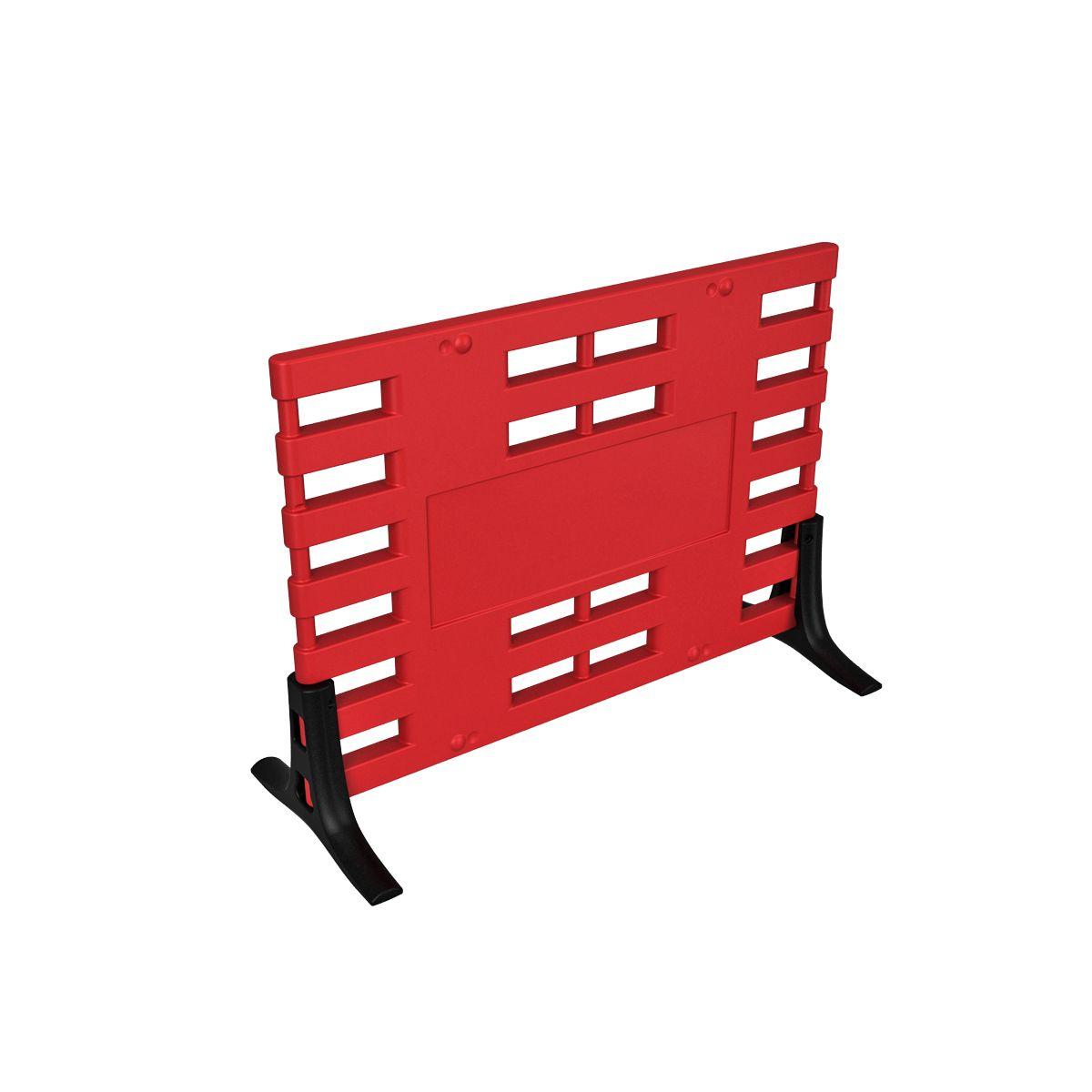 Ограждение барьерное ARGO с пластиковыми опорами красный