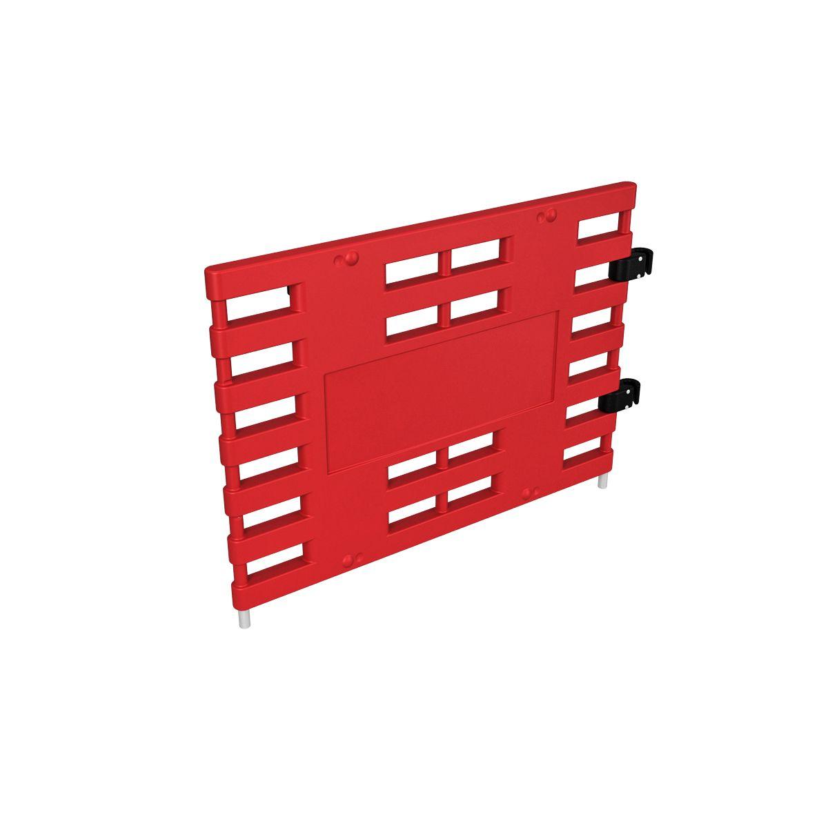 Ограждение барьерное ARGO с коннекторами красный