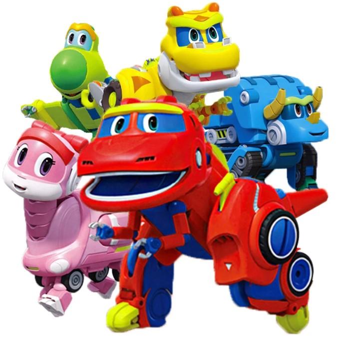 Трансформеры Большие Go Go Dino набор 4 шт.