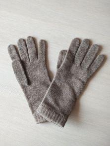 Кашемировые вязаные перчатки для Леди удлиненные с короткой манжетой (100% драгоценный кашемир), цвет Пшеничный. OTTER SHORT CUFF WOMENS CASHMERE GLOVES