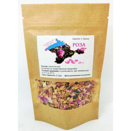 Лепестки чайной розы Крымская Здрава 25 гр