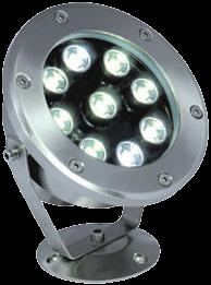 Подводный led светильник, белый 6W, IP68