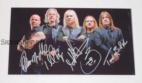 Автографы: Uriah Heep. Мик Бокс, Берни Шо, Фил Ла́нсон, Тревор Болдер, Расселл Гилбрук. Редкость