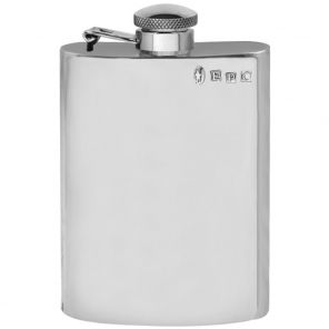 Фляжка из британского пьютера- Классическая с держателем, фирма 6oz plain body Pewter Hip Flask.
