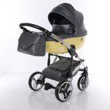 Junama Candy JC-05 - детская коляска 2 в 1 (черный/золотой)