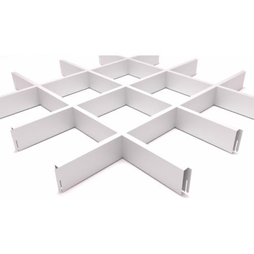 Потолок Грильято 150х150 белый матовый