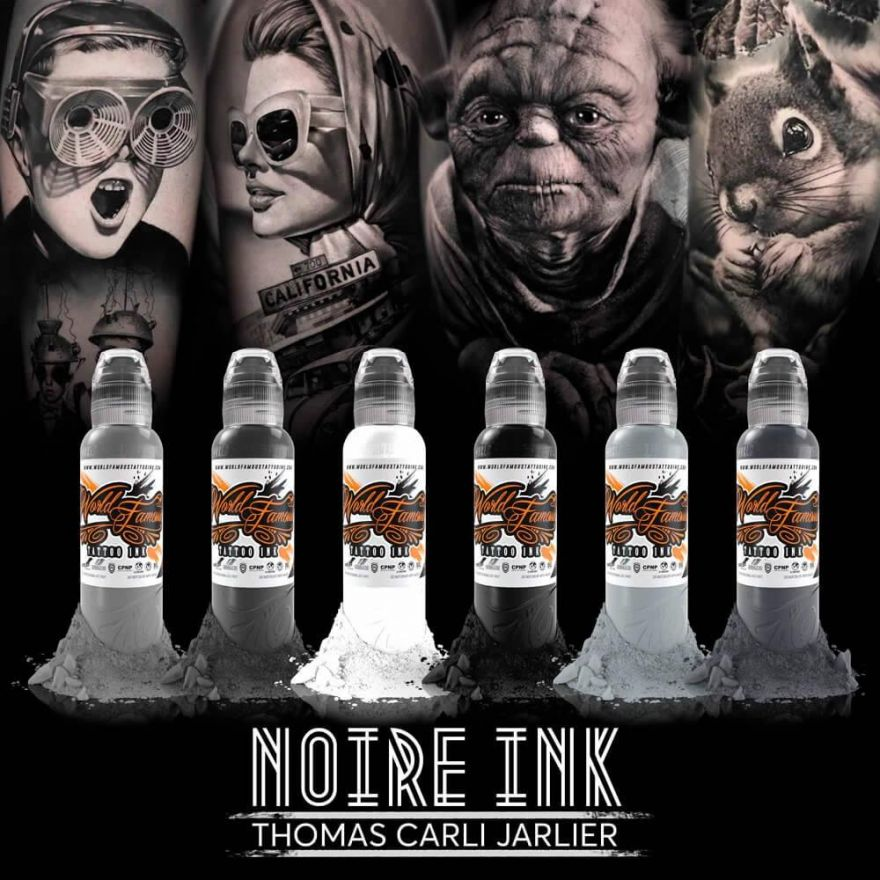 World Famous Ink Thomas Carli Jarlier - Noire Ink Set