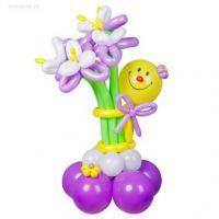 Фигура из шаров Смайлик с ирисами