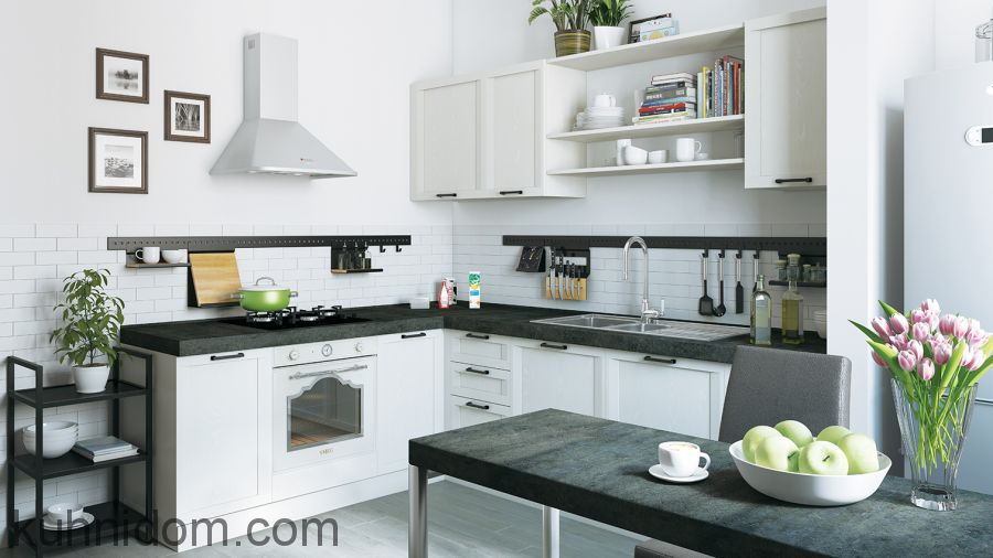 Кухня Портофино Белая Угловая