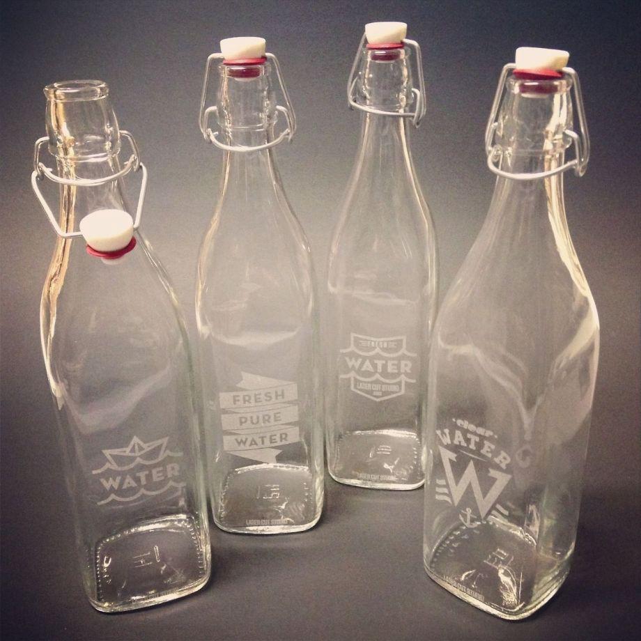 Лазерная гравировка бутылок на заказ