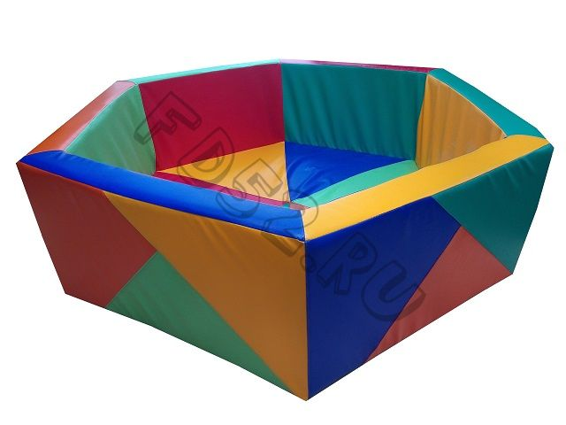 Сухой бассейн «Калейдоскоп -шестигранник»