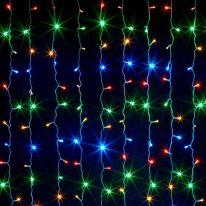 Светодиодная гирлянда Шторка 160 LED , 1,5x1,5 м., разноцветный