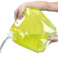 Складная канистра для воды (цвет жёлтый)