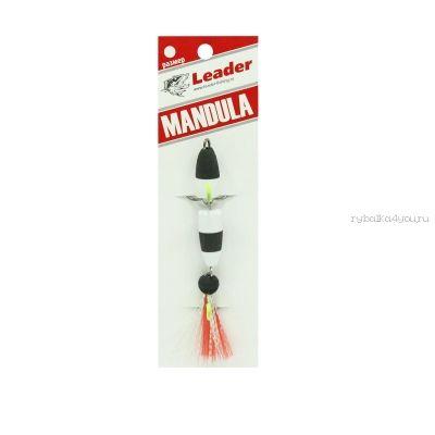 Мандула классическая Leader Mandula/ размер XS/ 60мм/  Цвет 011/ белый-черный-красный