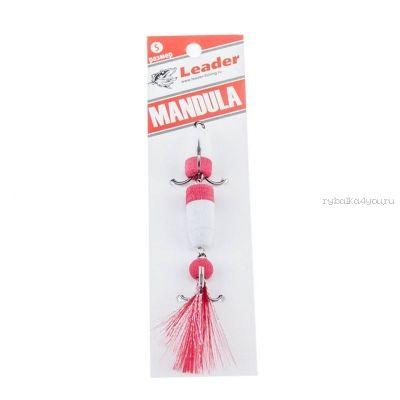 Мандула классическая Leader Mandula/ размер M/ 90мм/  Цвет 018/ белый-красный-красный