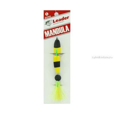 Мандула классическая Leader Mandula/ размер S/ 70мм/  Цвет 001/  желтый-черный-желтый (Билайн)