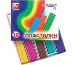 "ПЛАСТИЛИН ""КЛАССИКА"" 10 / 12 / 18 / 24 ЦВЕТОВ,СТЕК"