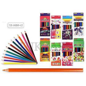 Набор цветных карандашей TZ 10204-12,трехгранные,12 цветов,в картонной коробке.
