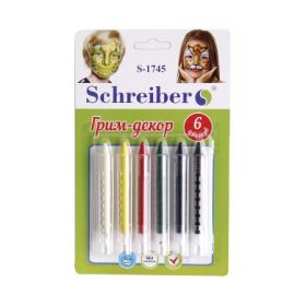 Мелки для лица и тела 6цв S 1745 Schreiber