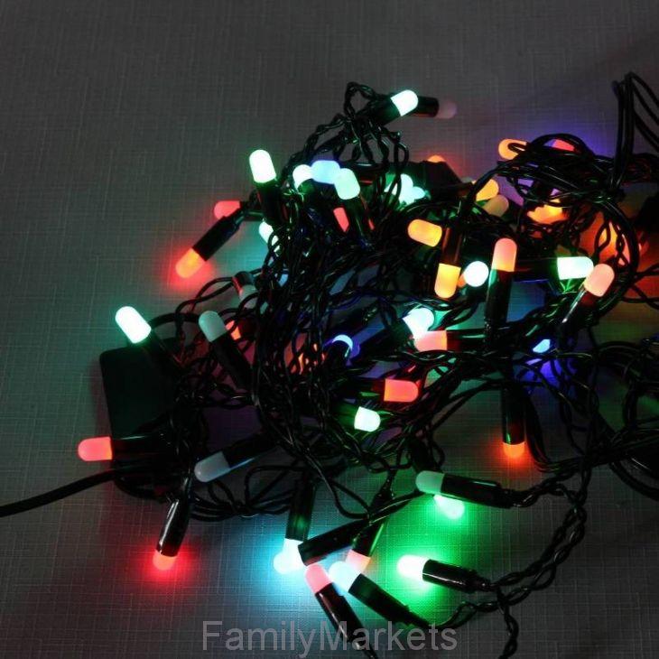 Разноцветная светодиодная гирлянда-нить 28 ламп 4 м