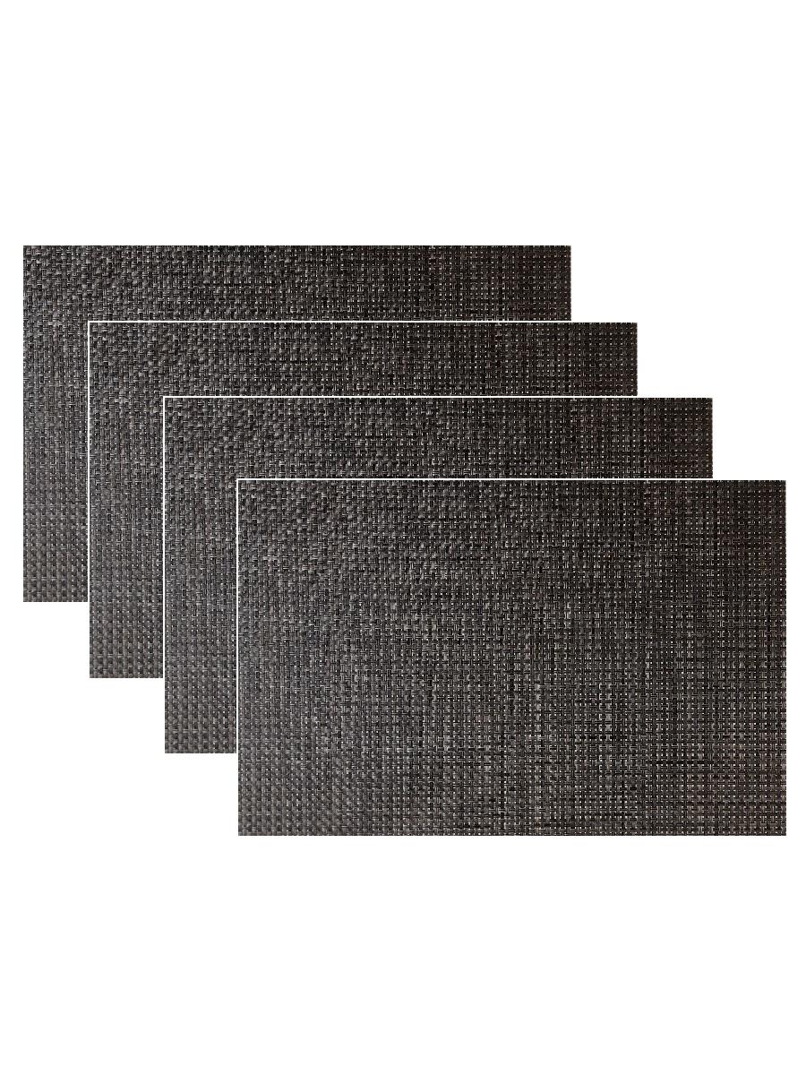 Набор из 4-х прямоугольных кухонных термосалфеток Dutamel плейсмат салфетка сервировочная - под ротанг темно-коричневая DTM-028 45*30 см