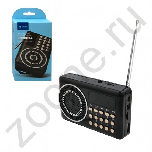 FM приемник H22U (FM, AUX, microSD, USB) черный DREAM (на русском) (скидка 20 процентов)
