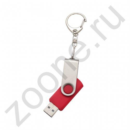 8GB USB Брелок (под гравировку или печать логотипа) красный (MR) (скидка 20 процентов)
