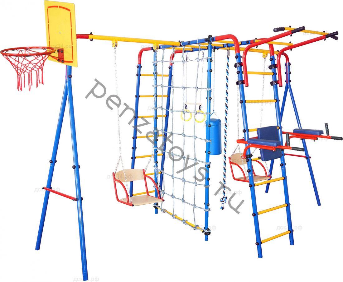 Игровой комплекс ДСК Атлет | Канатный лаз+двойные качели