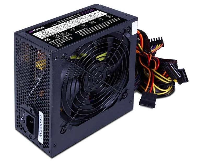 Блок питания HIPER HPB-650RGB BOX Черный