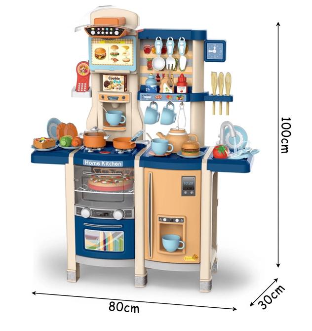 MJL-89  Детская кухня игровая, набор интерактивный с водой и паром 100 см. Коралл