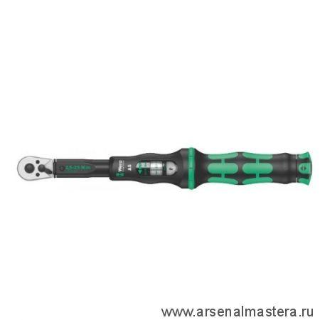 Динамометрический ключ с трещоткой с реверсом шестигранник 1/4 дюйм Click-Torque A 6 WERA 075605