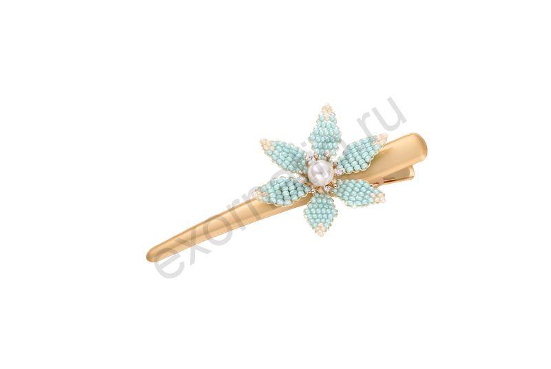 Заколка-пеликан Evita Peroni 42206-816. Коллекция Pelican 1 Aqua Blue
