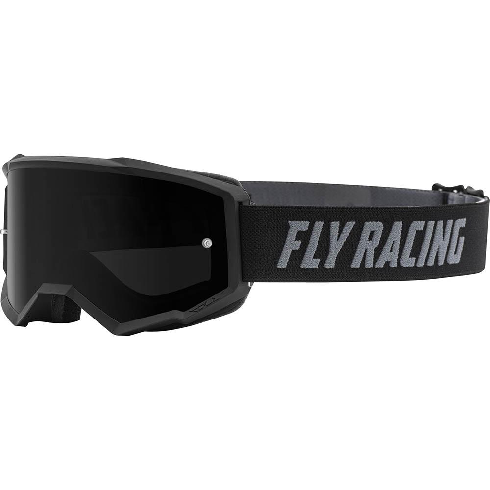 Fly Racing Zone Black Dark Smoke Lens очки для мотокросса