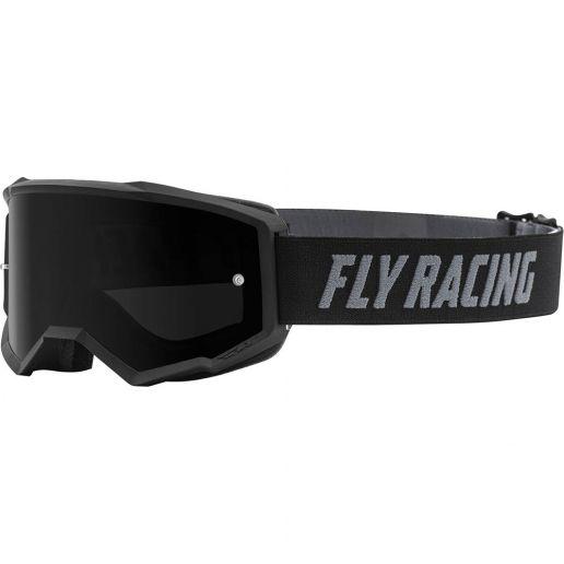 Fly Racing 2021 Zone Black Dark Smoke Lens очки для мотокросса