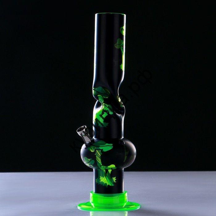 """Бонг прямой """"Грибы"""" с трубкой, 32 см, микс"""