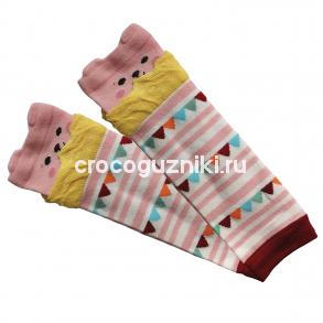 Гетры детские Animal Kids (one size/ 0-3 г) Мишка розовый
