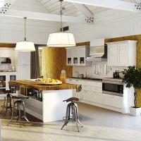 Кухня Манчестер Акация с островом