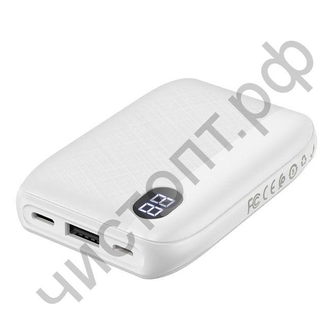 Моб. заряд. устрой. HOCO J53 10000mAh 2.0A 1USB/Type-C дисплей белый