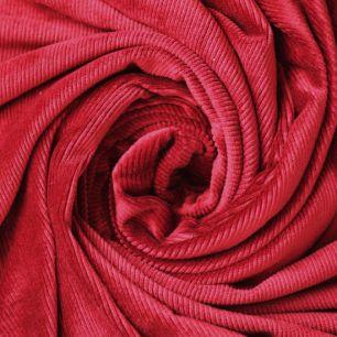 Микровелюр в рубчик - Бордовый 50х25