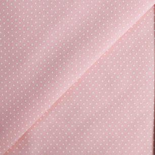 Лоскут трикотажной ткани Горошек на персиковом 50х30