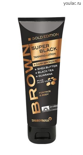 SUPER BLACK GOLD EDITION + DARK BRONZER крем-ускоритель для загара с усиленными бронзаторами и slimming-эффектом 125 мл