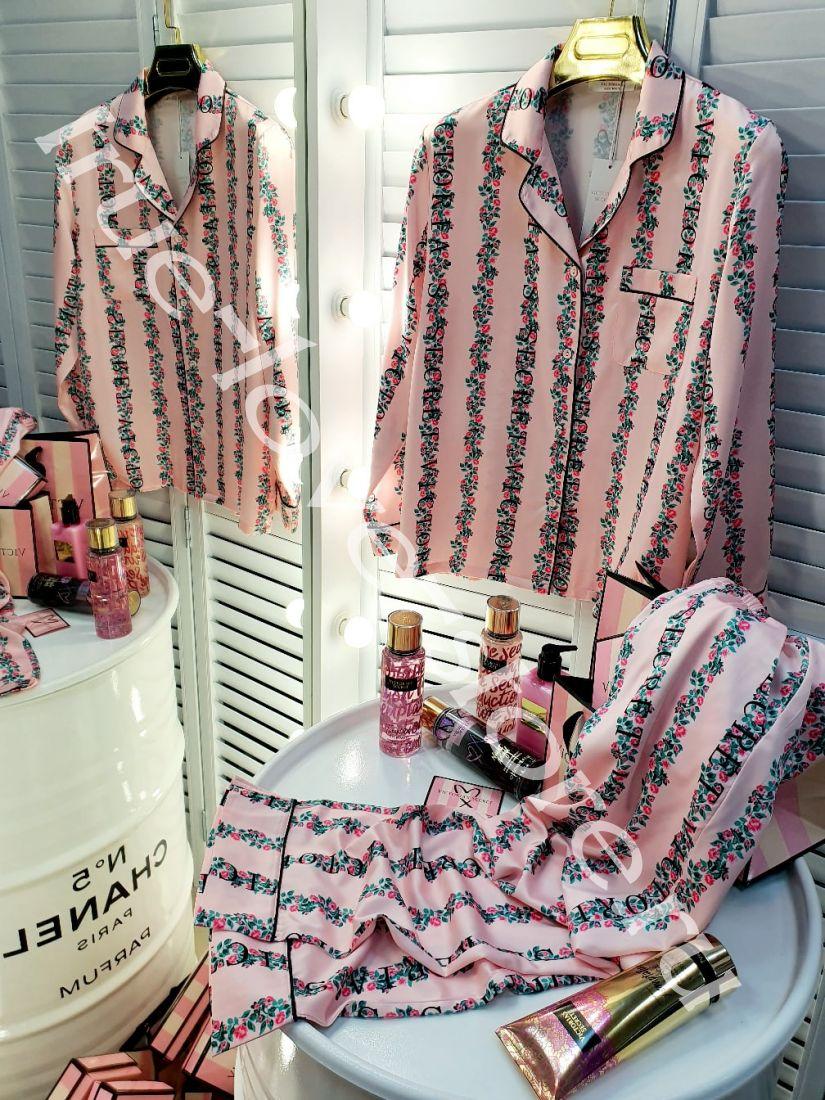 720141-  цена за 3 шт.Пижама двойка Victoria'S Secret(M,L,XL)