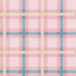 Хлопок Перкаль Розовая шотландка 50х37