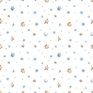 Хлопок Перкаль Первый снег 50х37