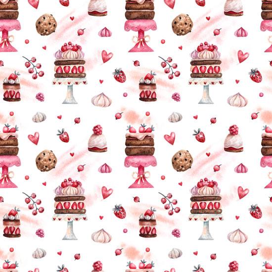 Хлопок Перкаль Торты и пирожные 50х37