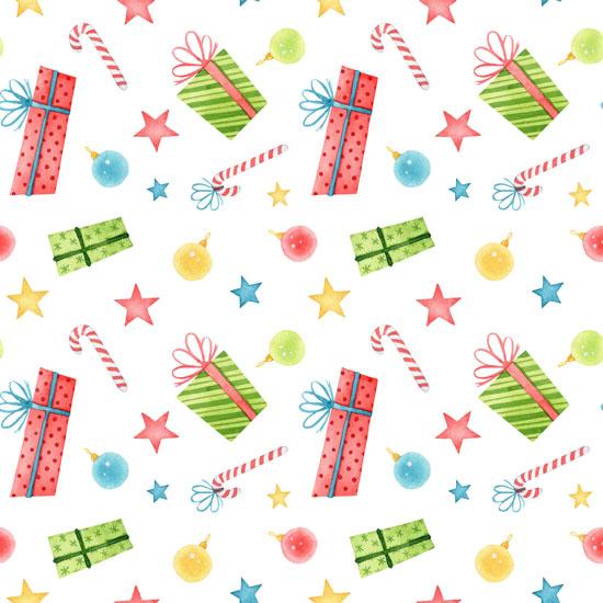 Хлопок Перкаль Разноцветные подарки 50х37