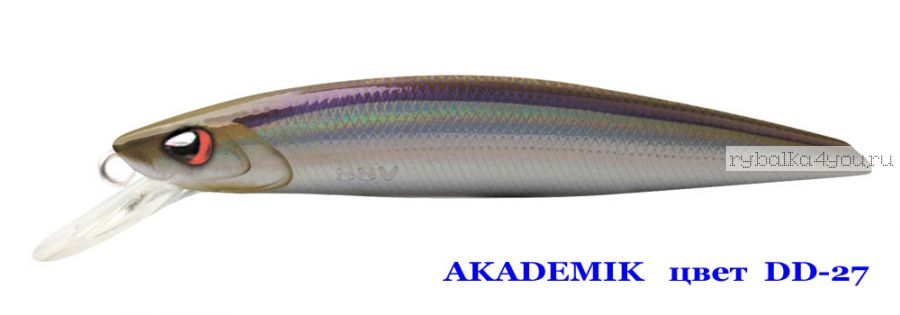 Воблер Silver Stream Akademik 74SP 75 мм / 4,9 гр / Заглубление: 0,7 - 1,1 м / цвет: DD-27