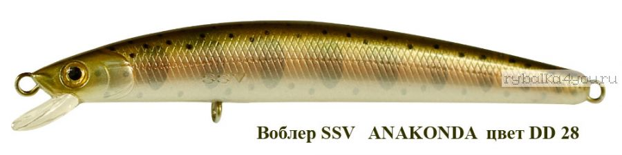Воблер Silver Stream Anakonda 95F 95 мм / 8 гр / Заглубление: 0,4 - 0,6 м / цвет: DD-28