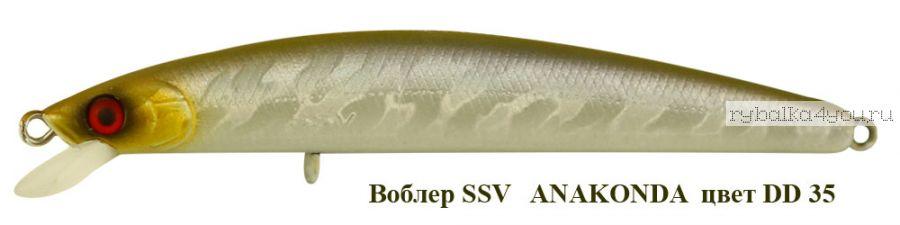 Воблер Silver Stream Anakonda 95F 95 мм / 8 гр / Заглубление: 0,4 - 0,6 м / цвет: DD-35